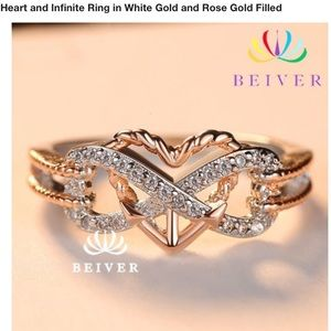 Jewelry - Heart, Infinity, Peace Ring, size 8
